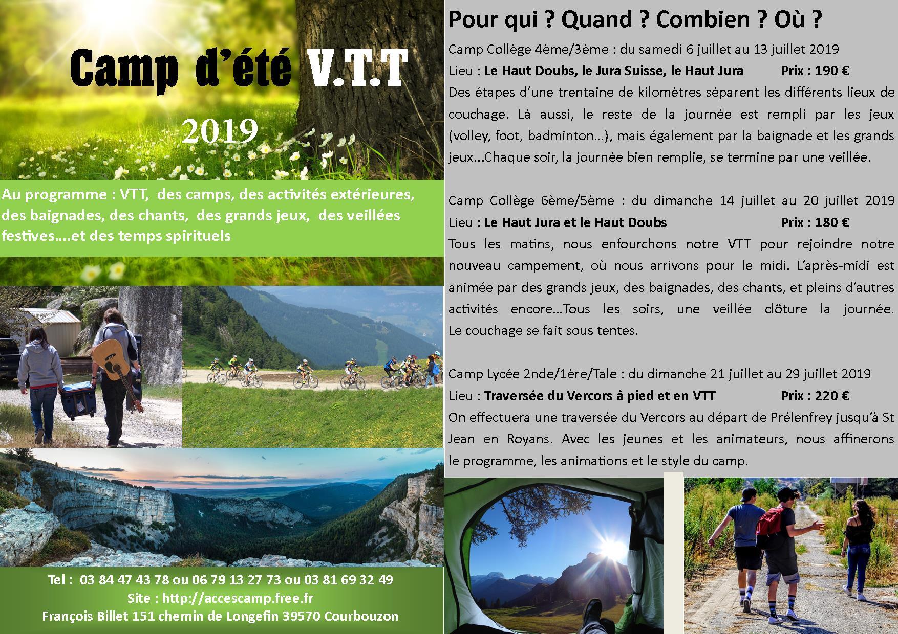Camp ete 2019
