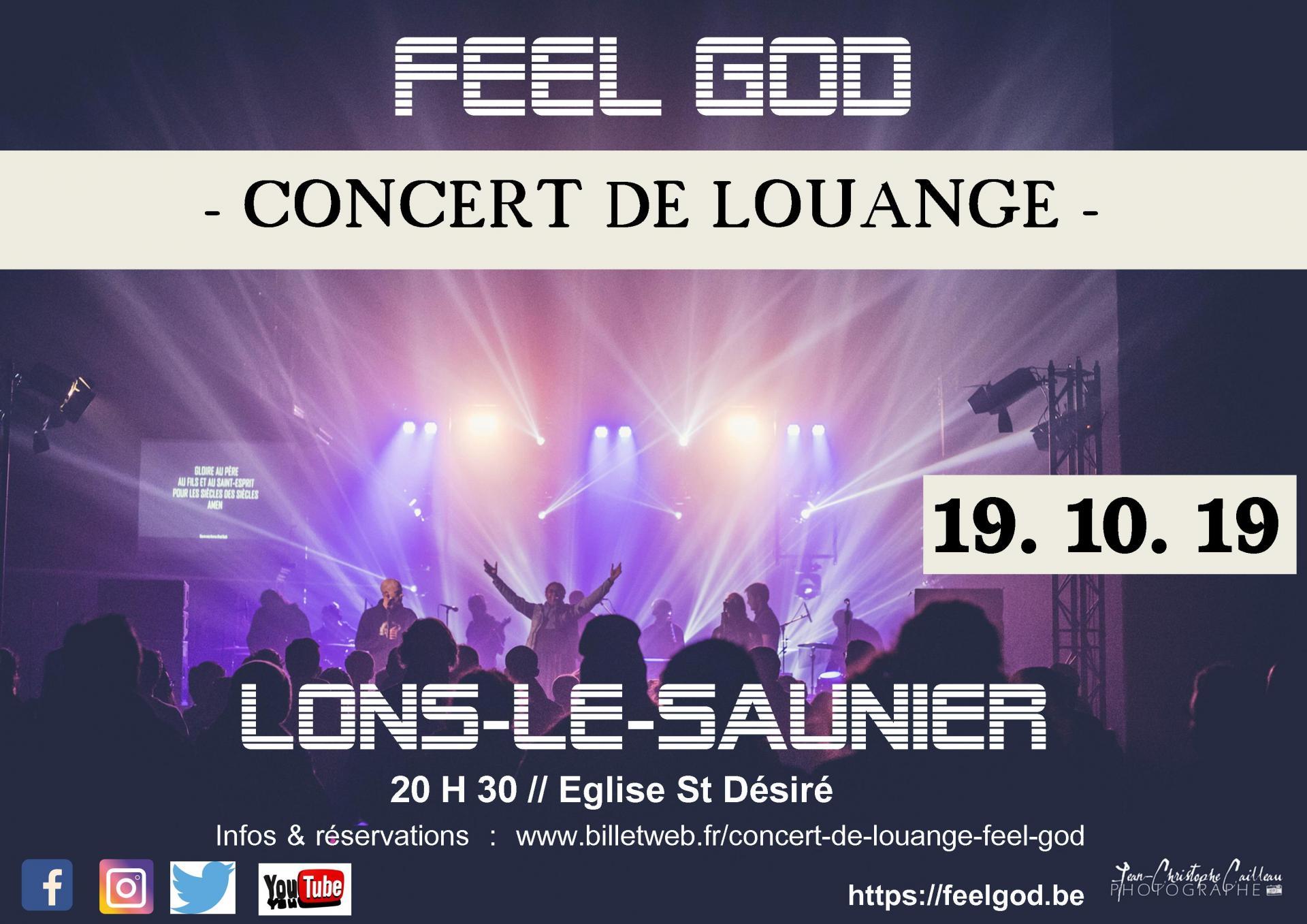 Concert feel god affiche